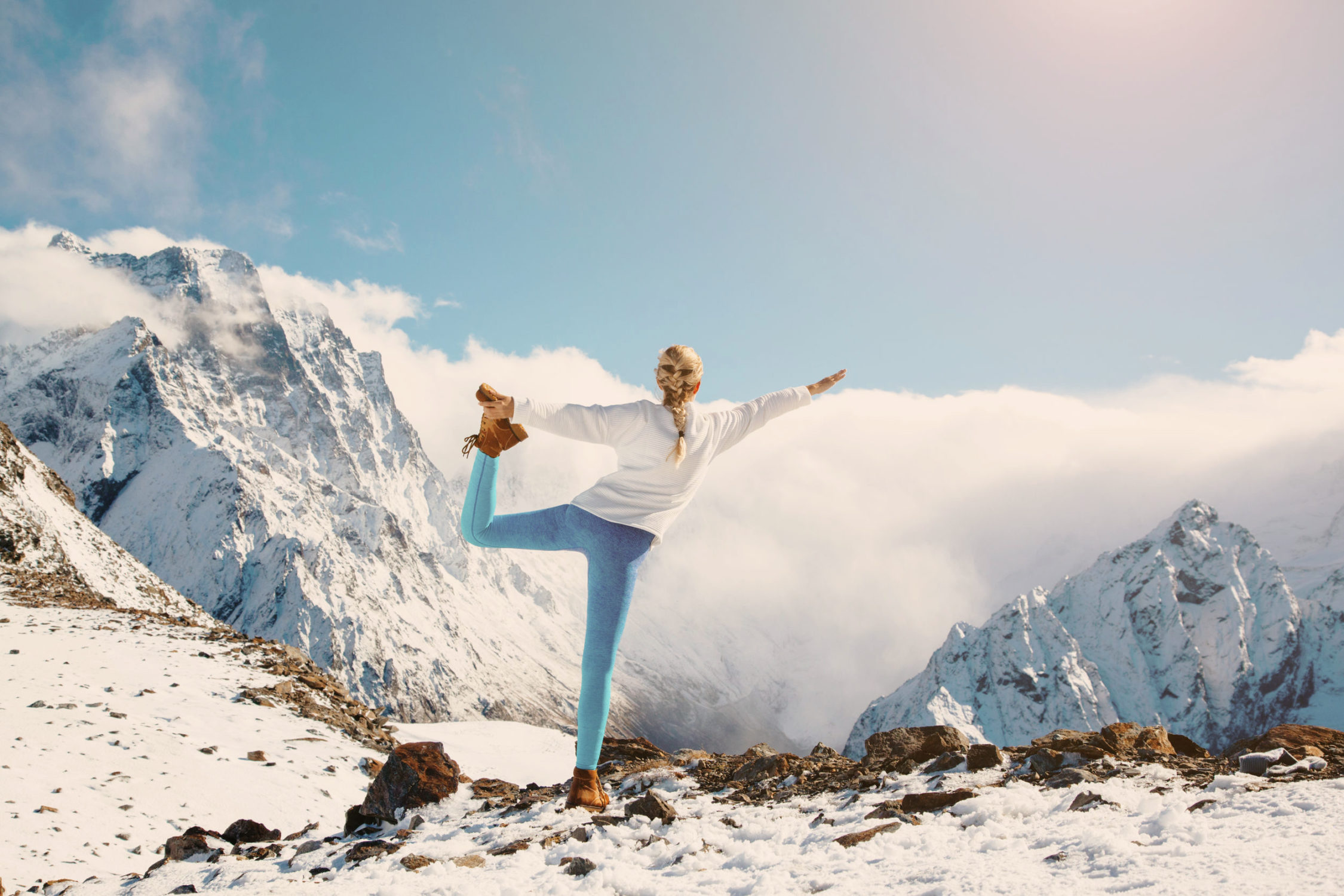 The ski and yoga week